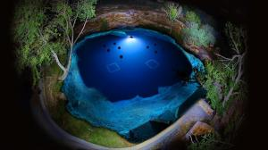 Blue Hole Santa Rose nocą